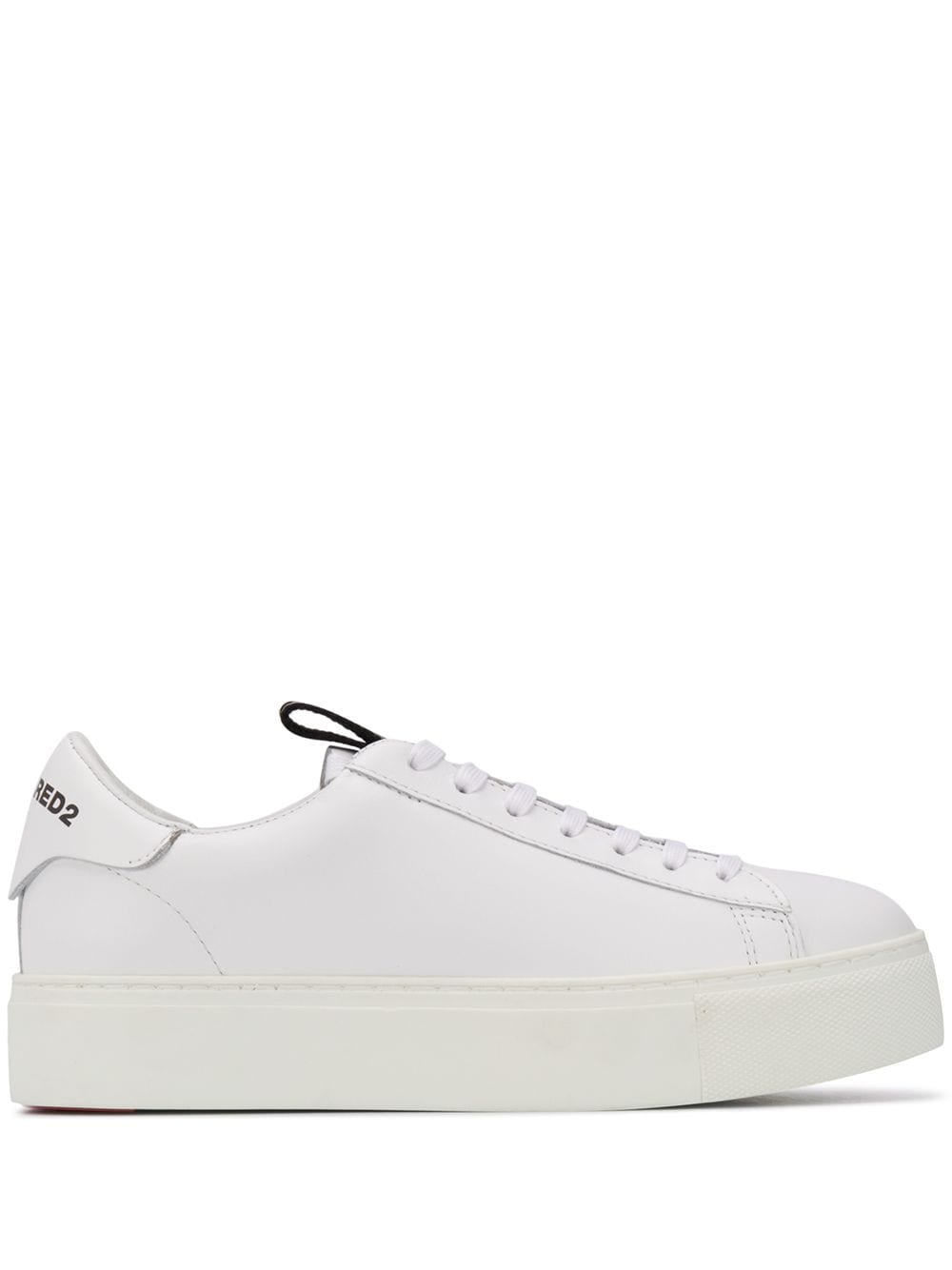 DSQUARED2 Women 251 Tape Sneakers White/Black - Maison De Fashion
