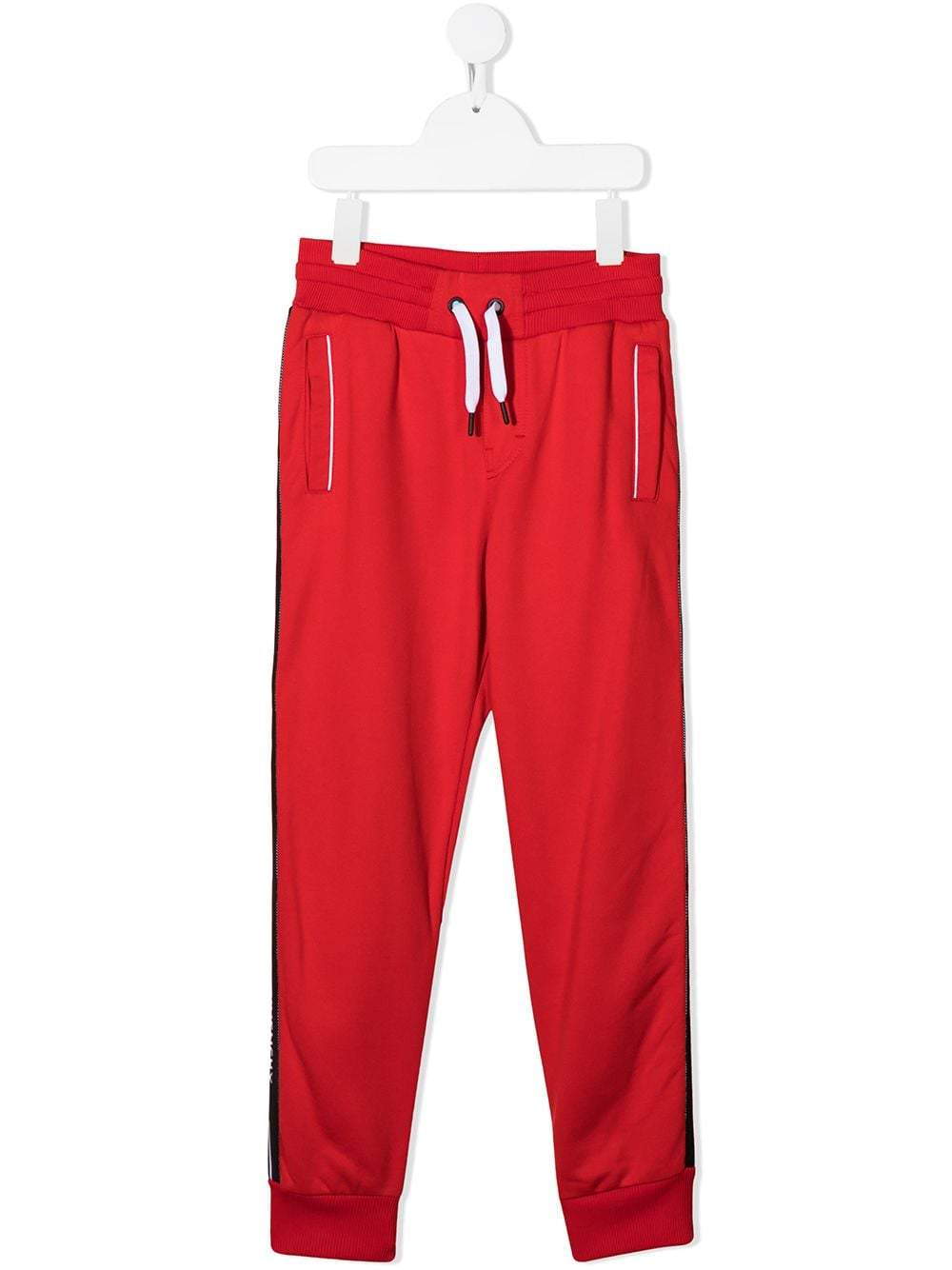 GIVENCHY KIDS Tape Logo Sweatpants Red