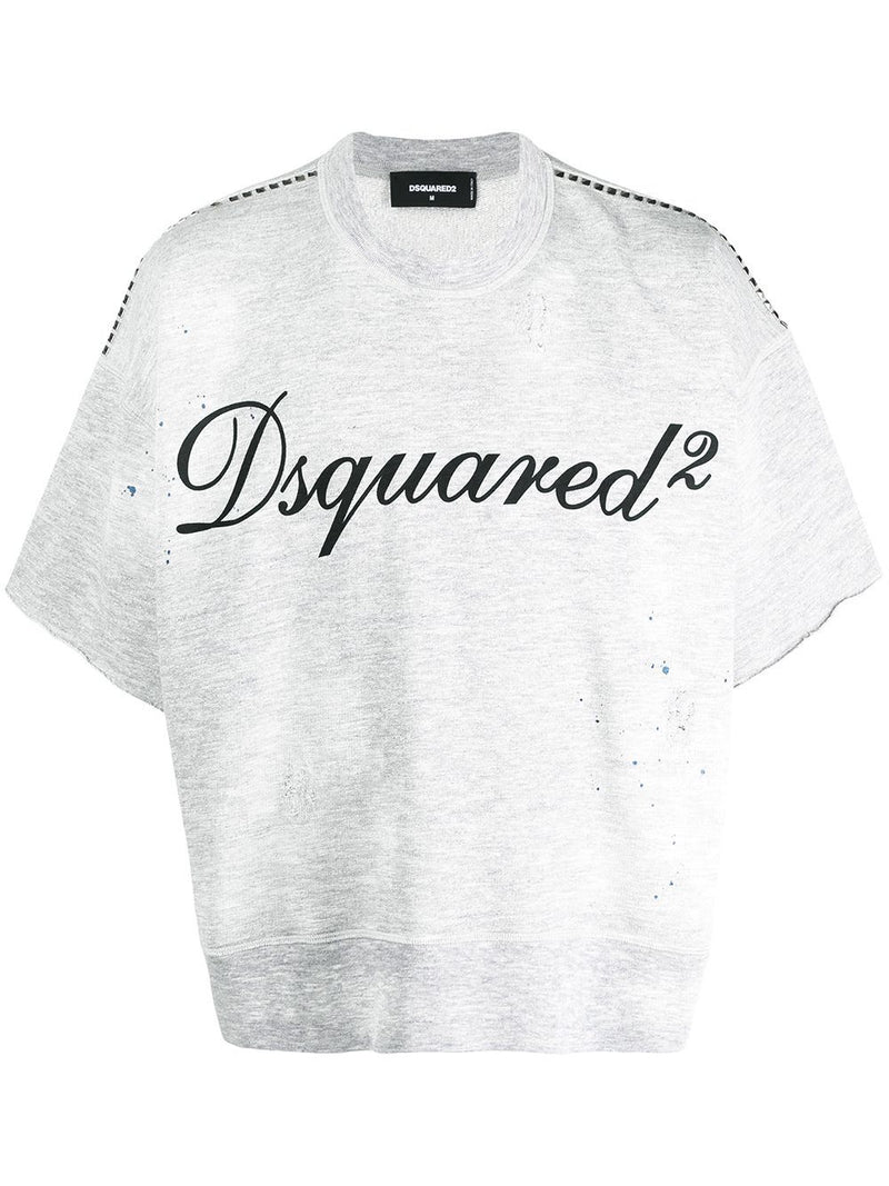 DSQUARED2 Studded Logo T-Shirt Grey