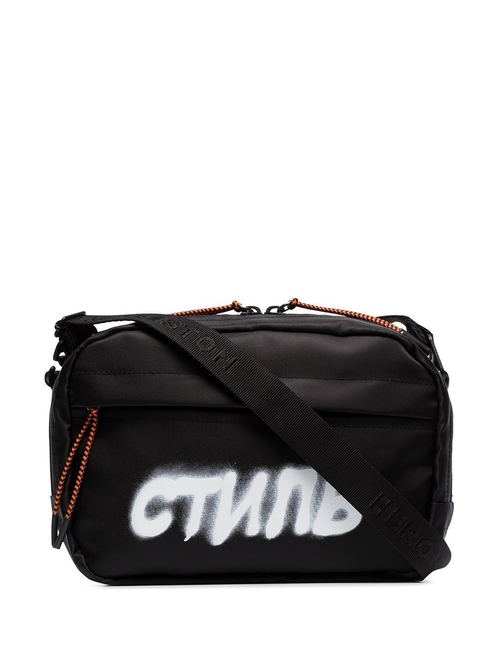 HERON PRESTON CTNMB spray print belt bag Black - Maison De Fashion