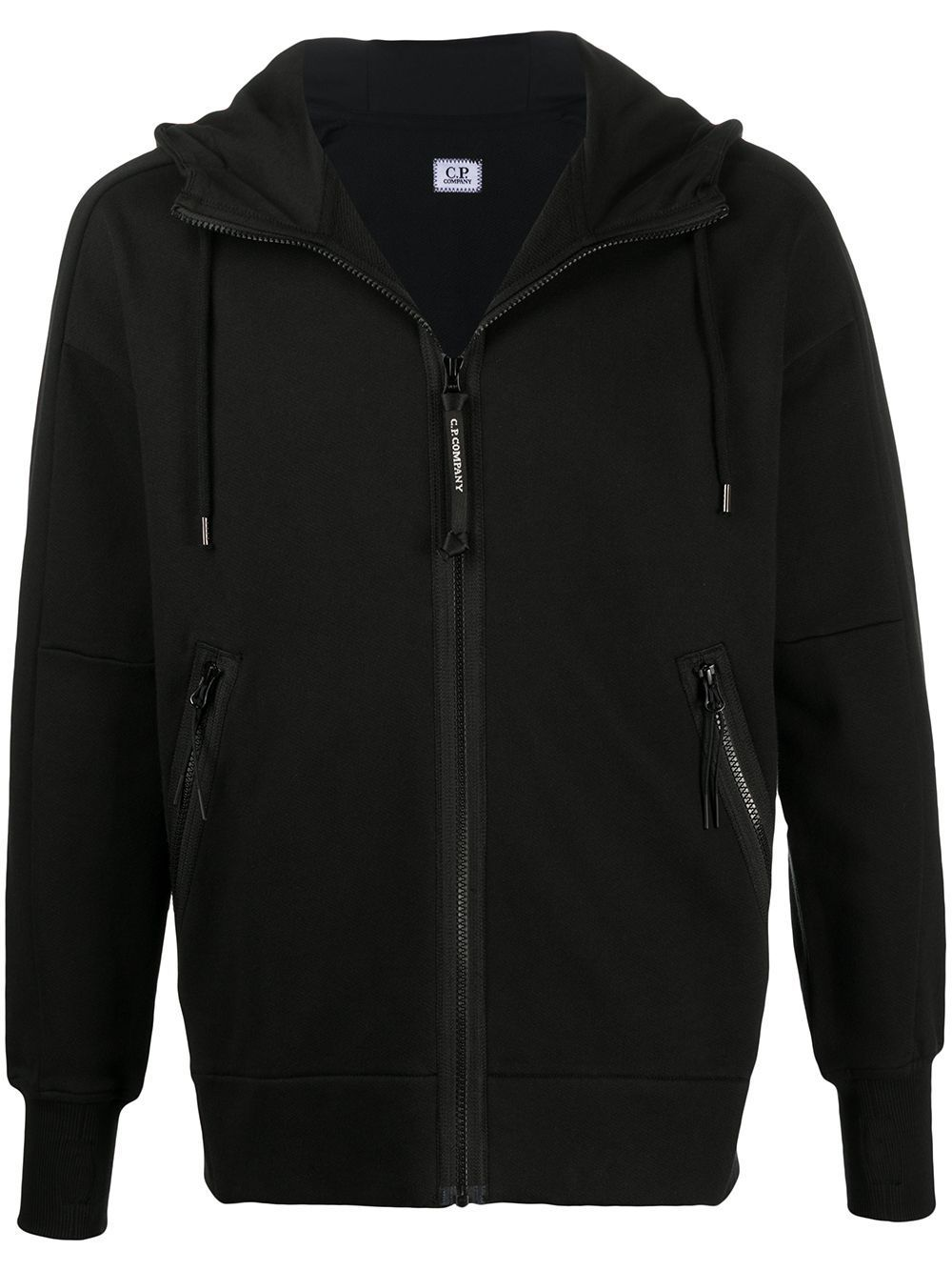 C.P. COMPANY Zipped Goggle Sweatshirt Black