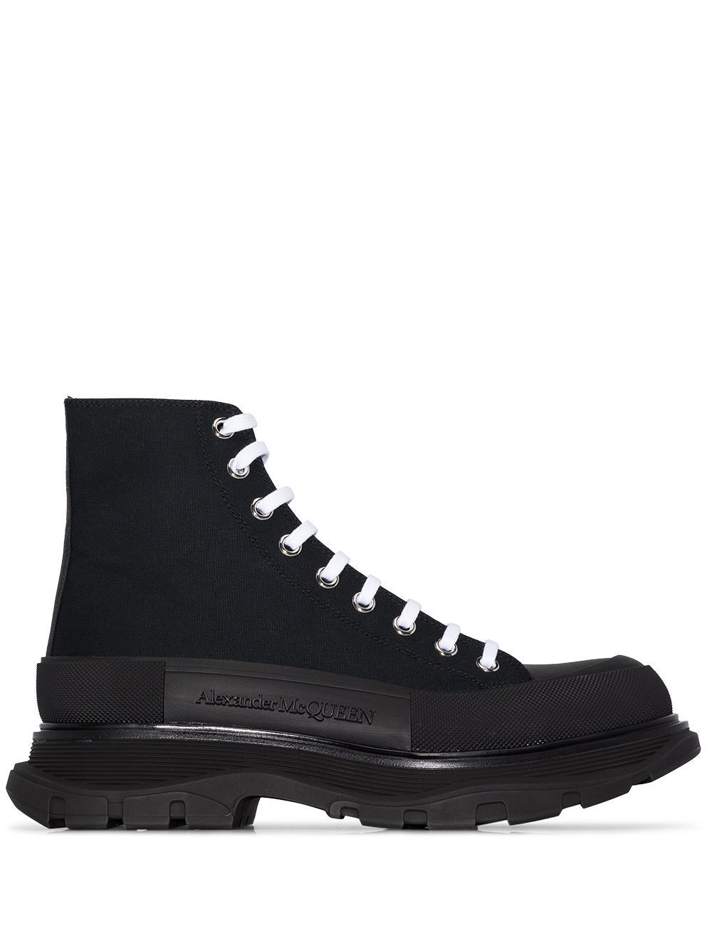 ALEXANDER MCQUEEN Lace-up Combat Boots Black - Maison De Fashion