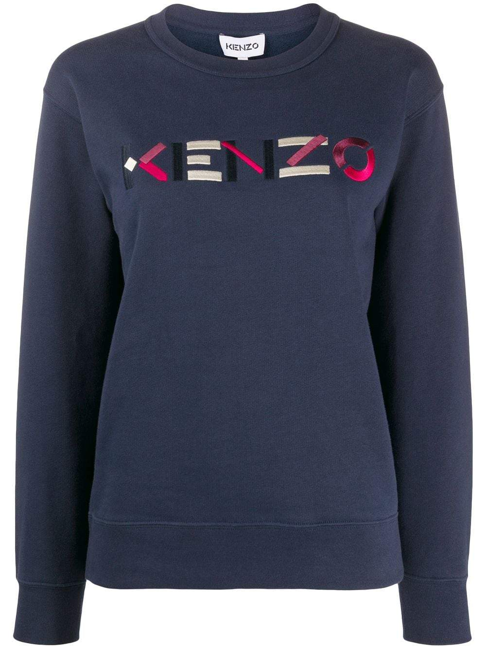 KENZO WOMEN Colour Logo Sweatshirt Navy