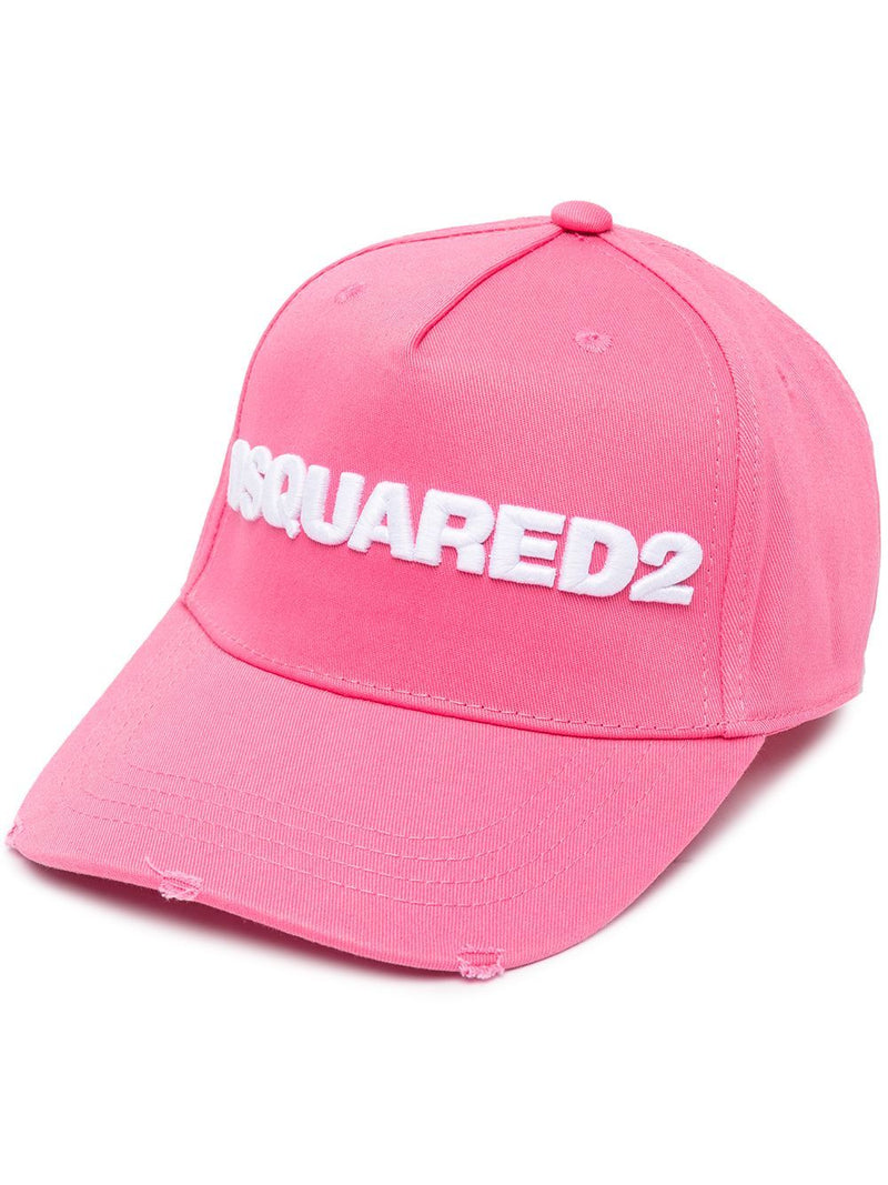 DSQUARED2 Logo Distressed Cap Pink