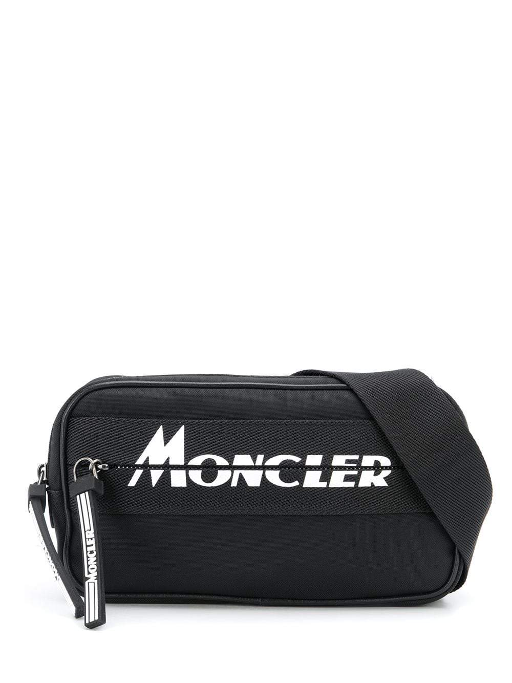 MONCLER logo belt bag black