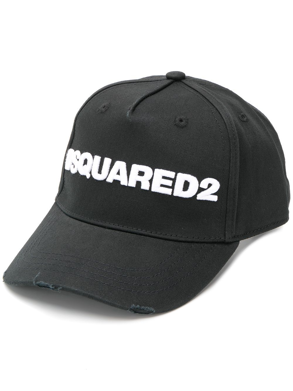 DSQUARED2 Logo Distressed Cap Black