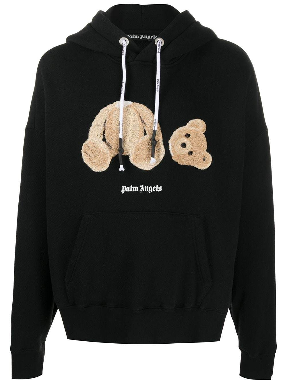 PALM ANGELS Bear Hoodie Black