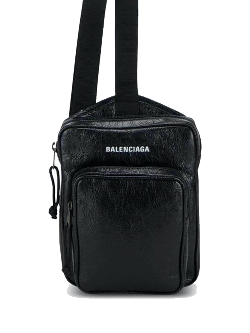 BALENCIAGA logo crossbody bag black