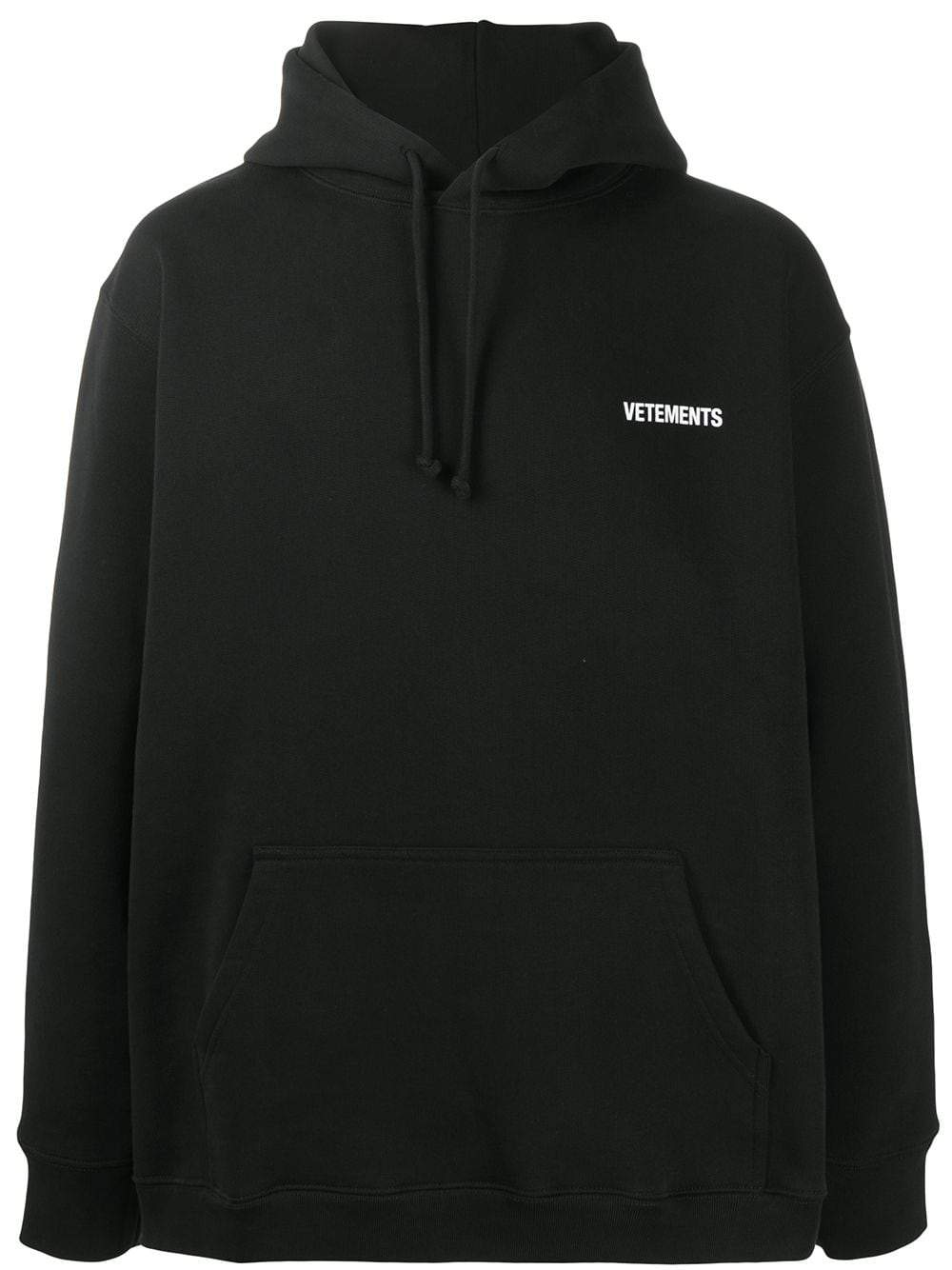 VETEMENTS front back logo hoodie black