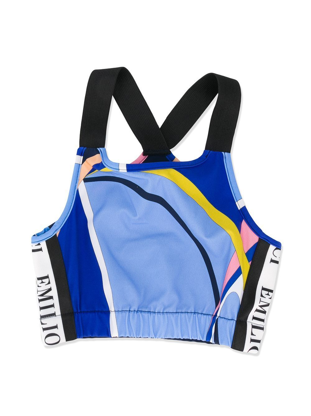 Emilio Pucci Blue & Pink Crop Top - Maison De Fashion
