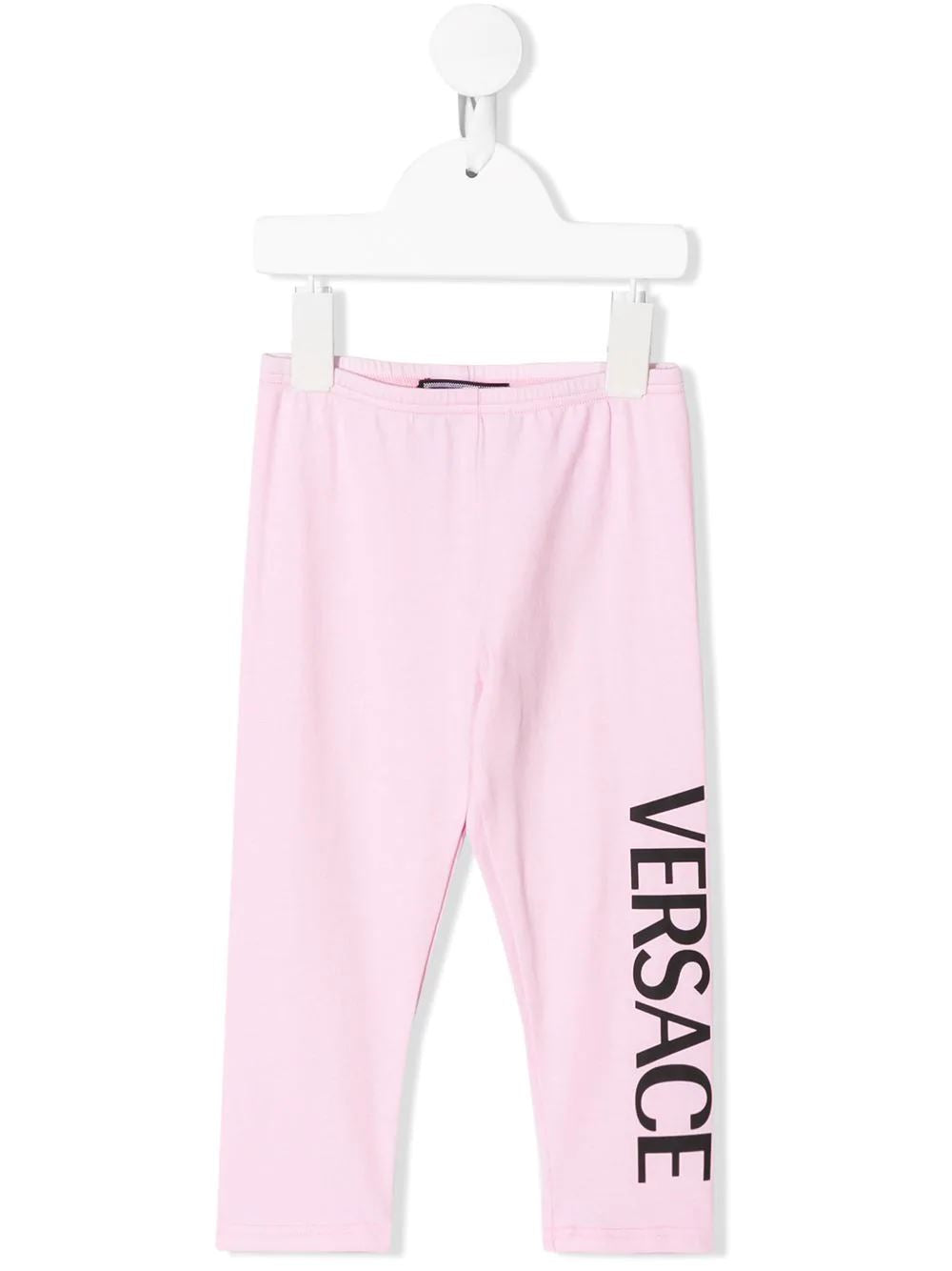VERSACE Kids printed logo leggings - Maison De Fashion
