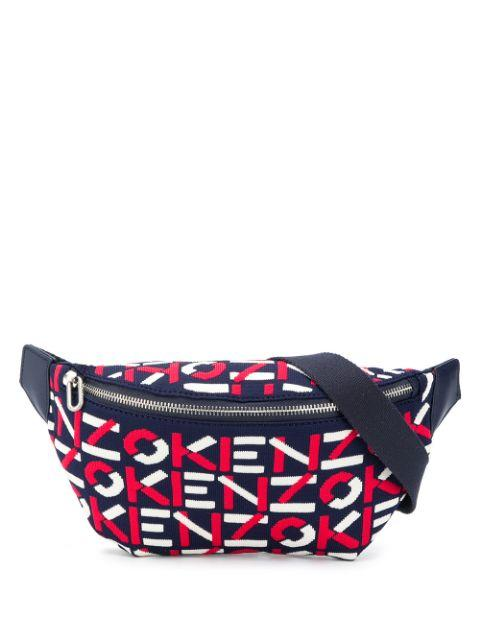 Kenzo Scuba Monogram Belt Bag Red