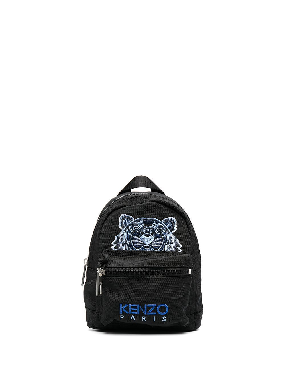 Kenzo Canvas Tiger Embroidered Mini Backpack Black