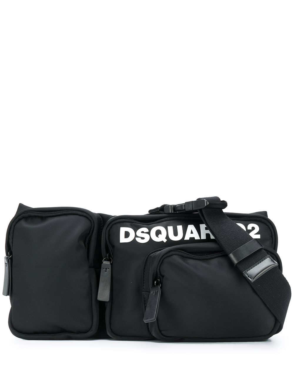 DSQUARED2 Multi-Pocket Belt Bag Black