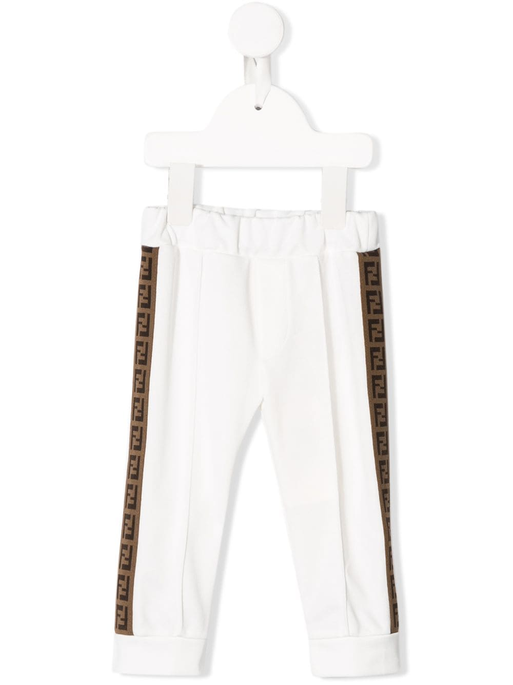 FENDI KIDS baby tape logo sweat pants white