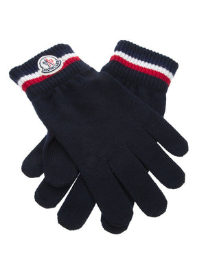 Moncler Logo Knitted Gloves - Maison De Fashion