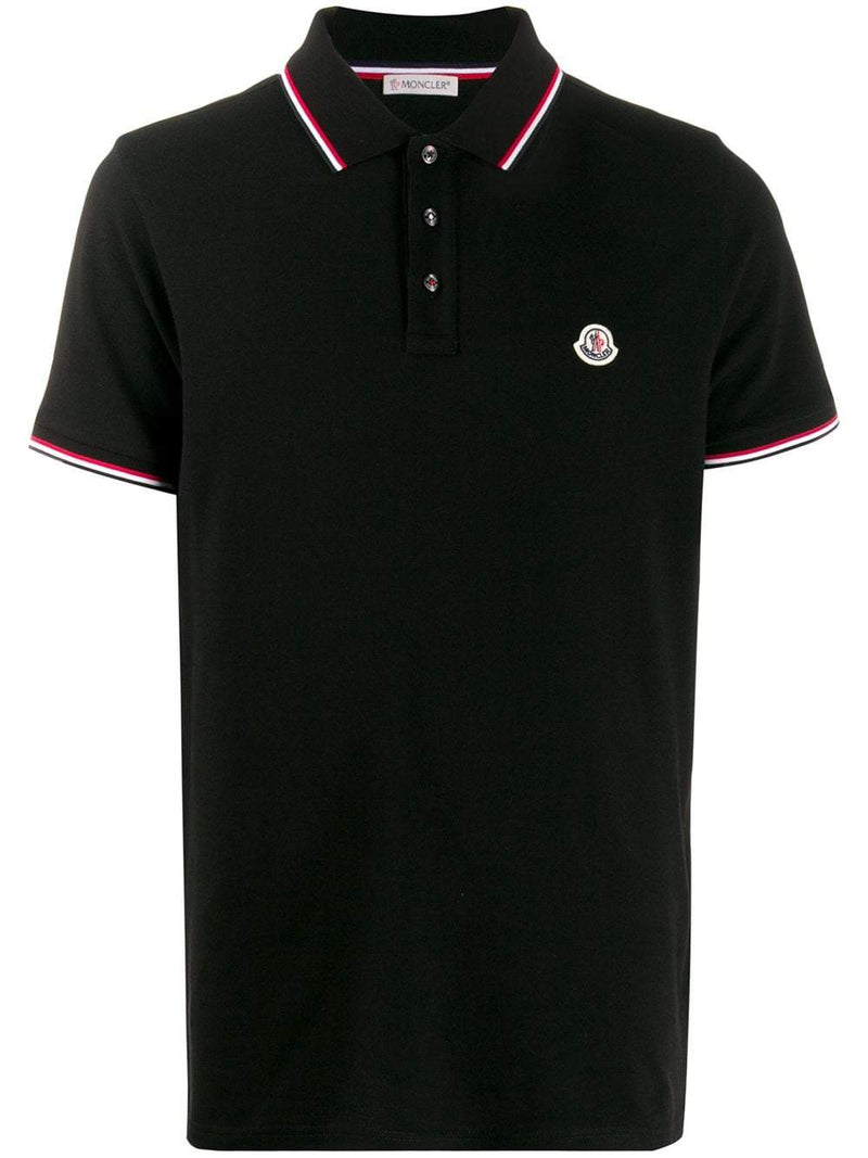 MONCLER logo polo shirt black