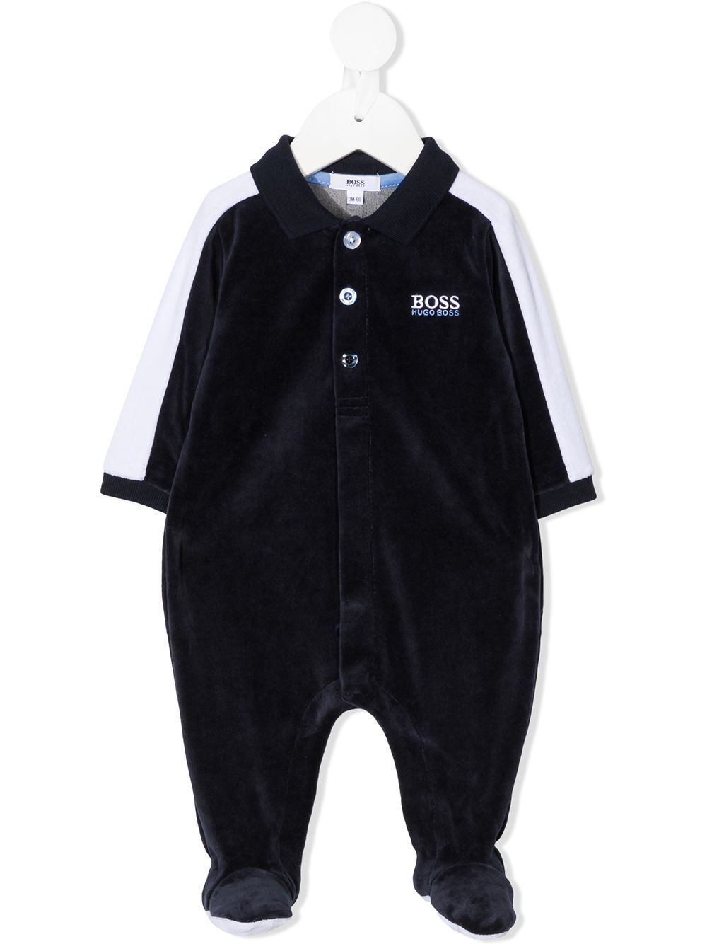 BOSS KIDS Logo Night Set Navy/White
