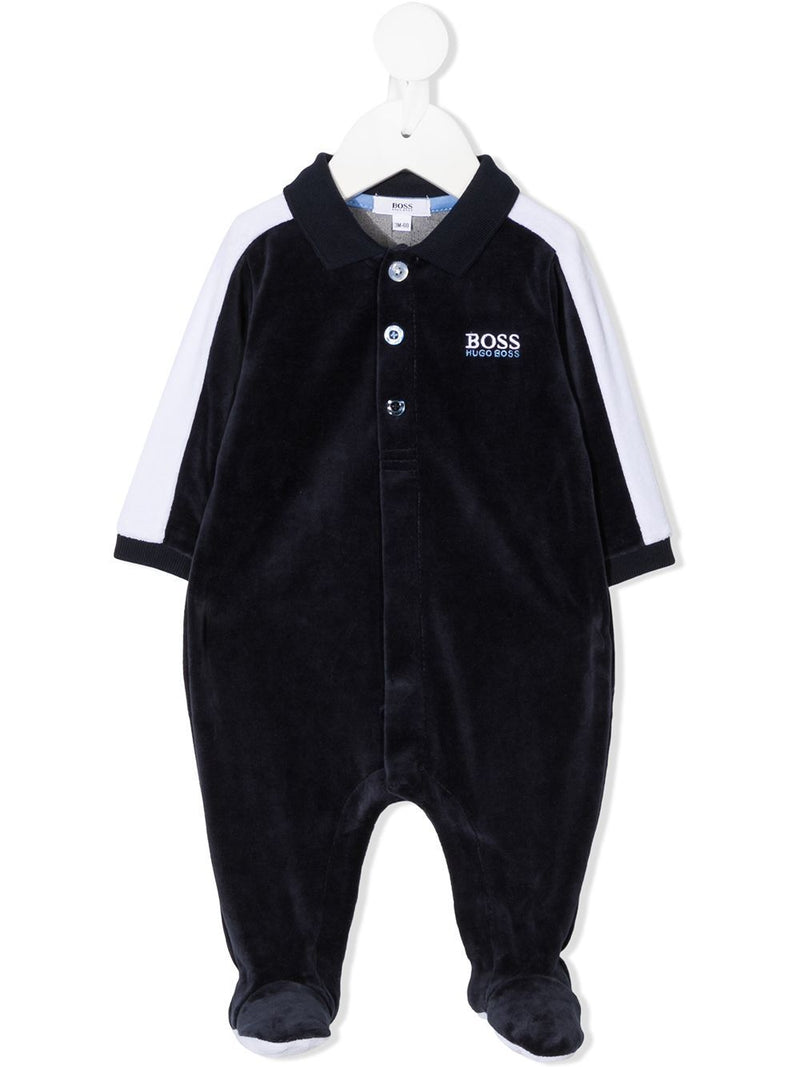 BOSS KIDS Logo Night Set Navy/White - Maison De Fashion