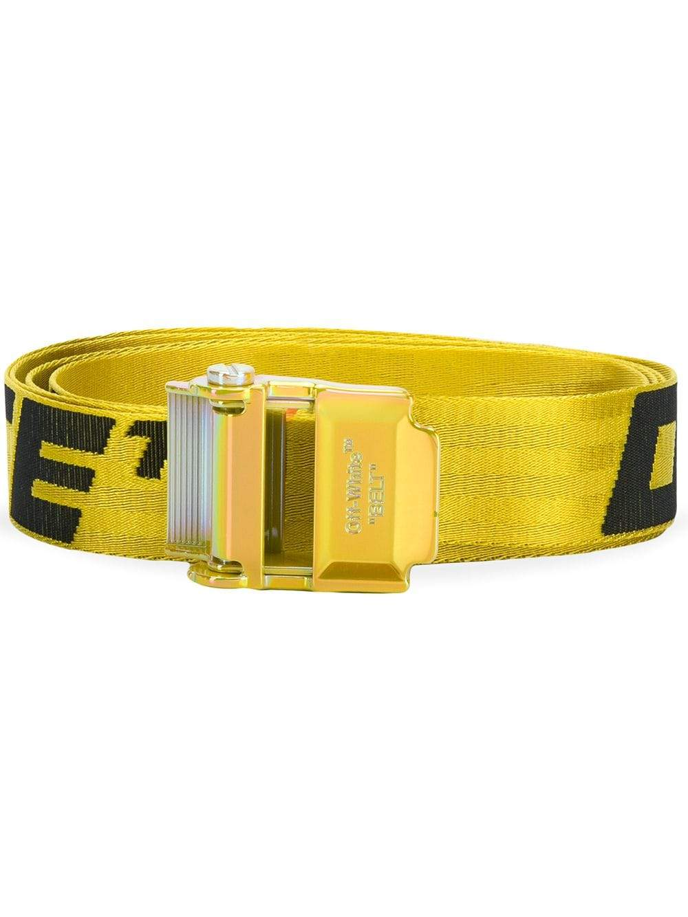 Off-White 2.0 industrial belt Yellow/Oil Slick - Maison De Fashion