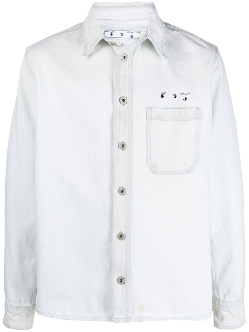 OFF-WHITE Marker Denim Shirt White
