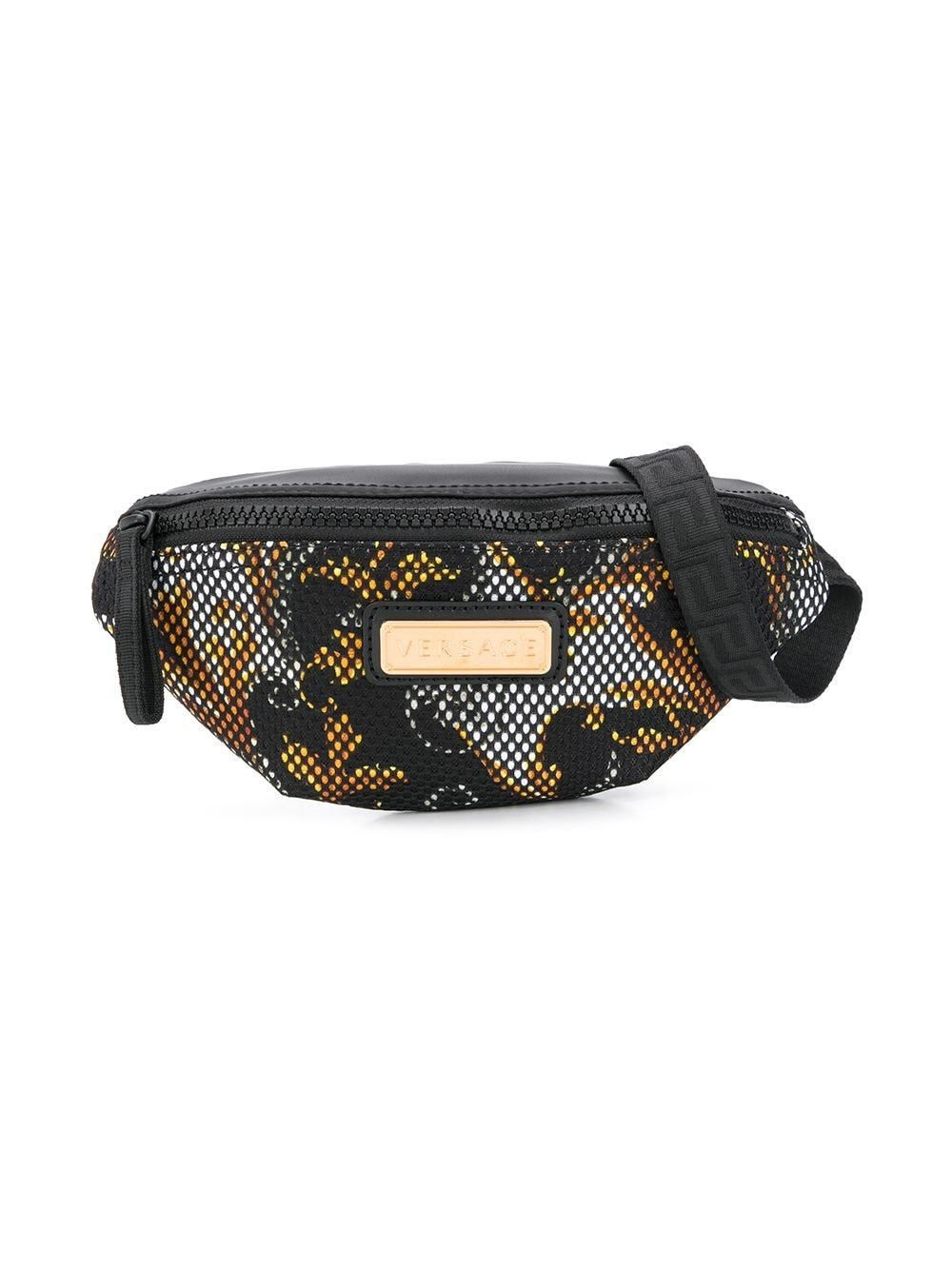 VERSACE KIDS Logo Plaque Belt Bag Black - Maison De Fashion
