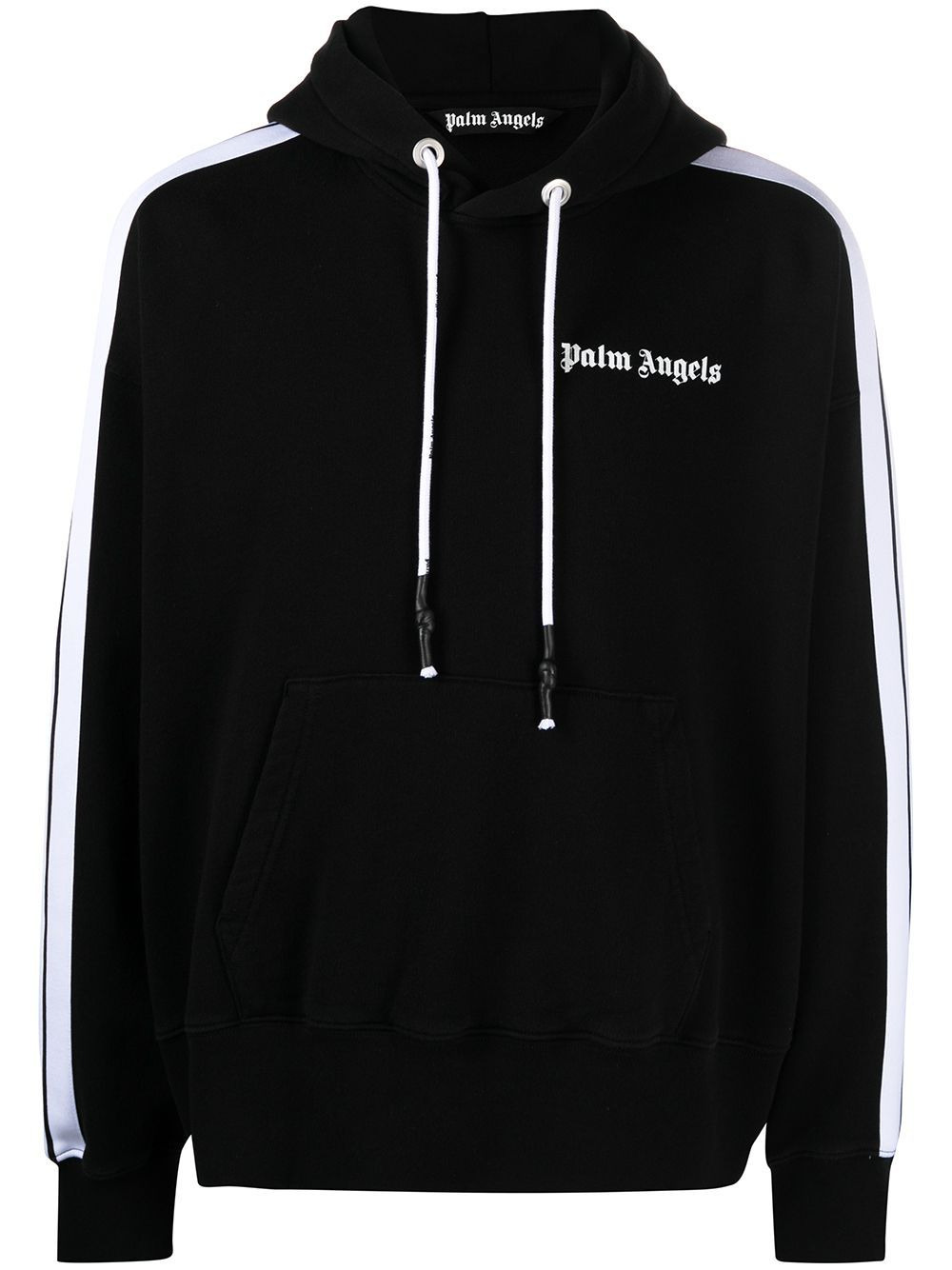 PALM ANGELS Fleece Track Hoodie Black