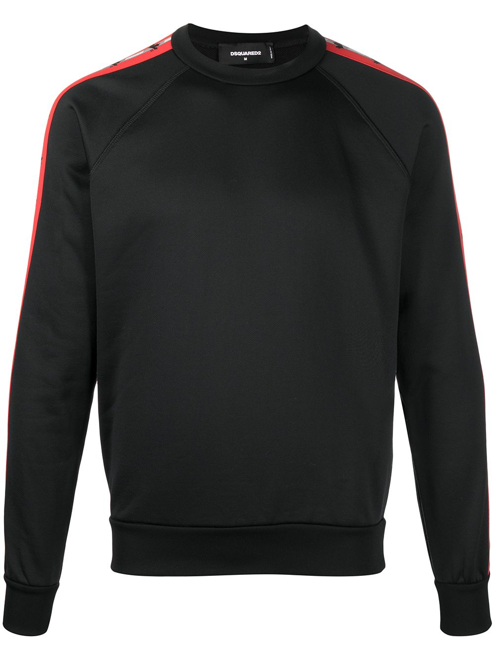 DSQUARED2 Side Stripe Logo Sweatshirt Black