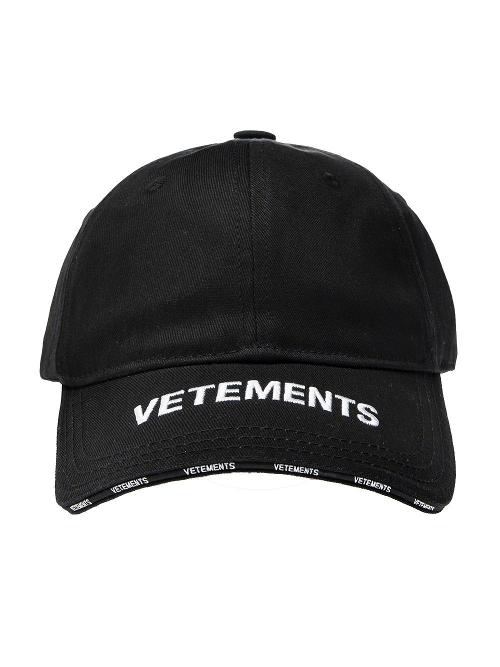 VETEMENTS Peak Logo Cap Black