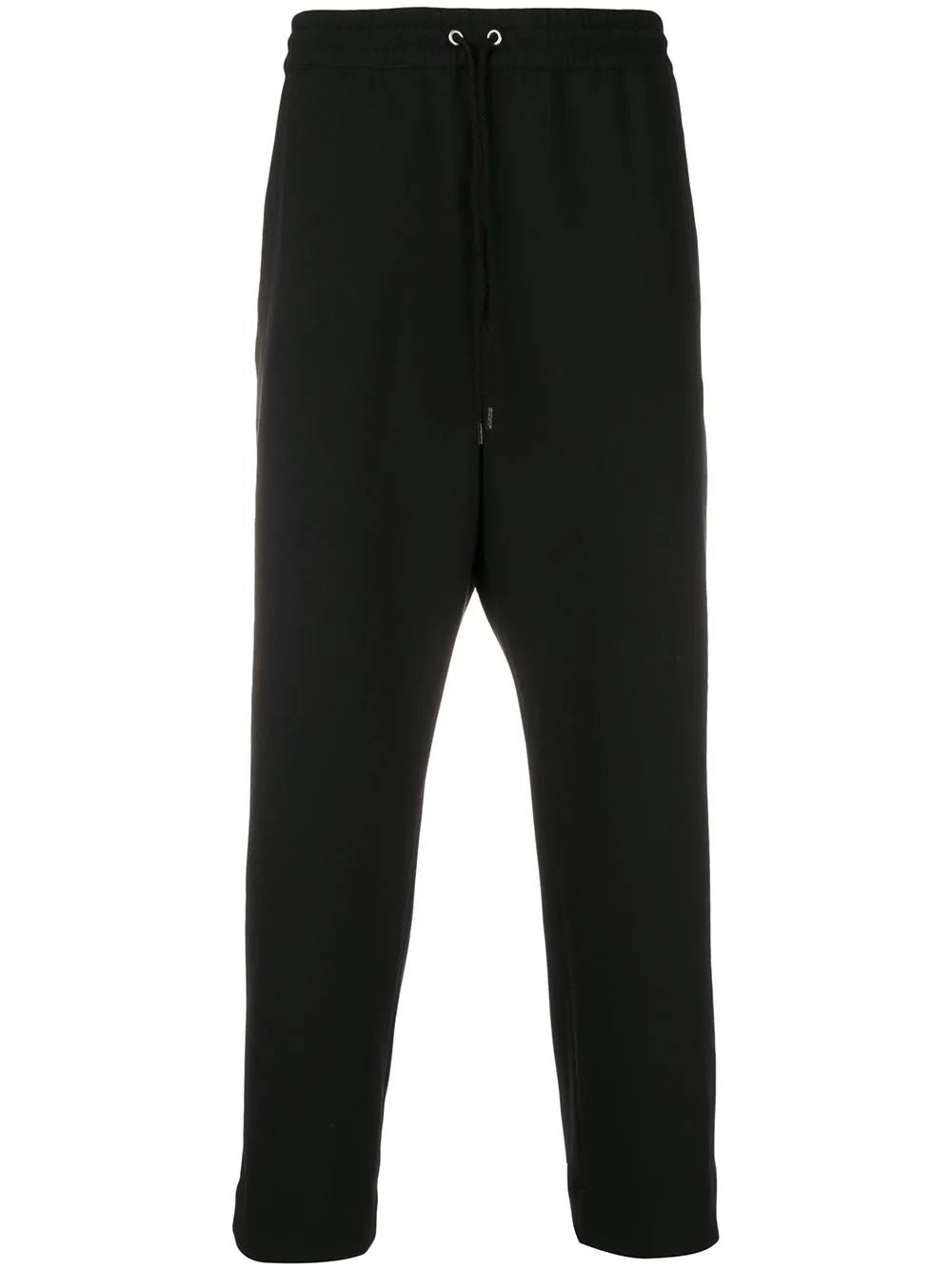 KENZO cropped drawstring trousers black - Maison De Fashion