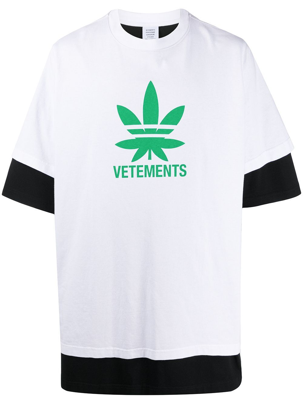 VETEMENTS double cuff maria t-shirt white