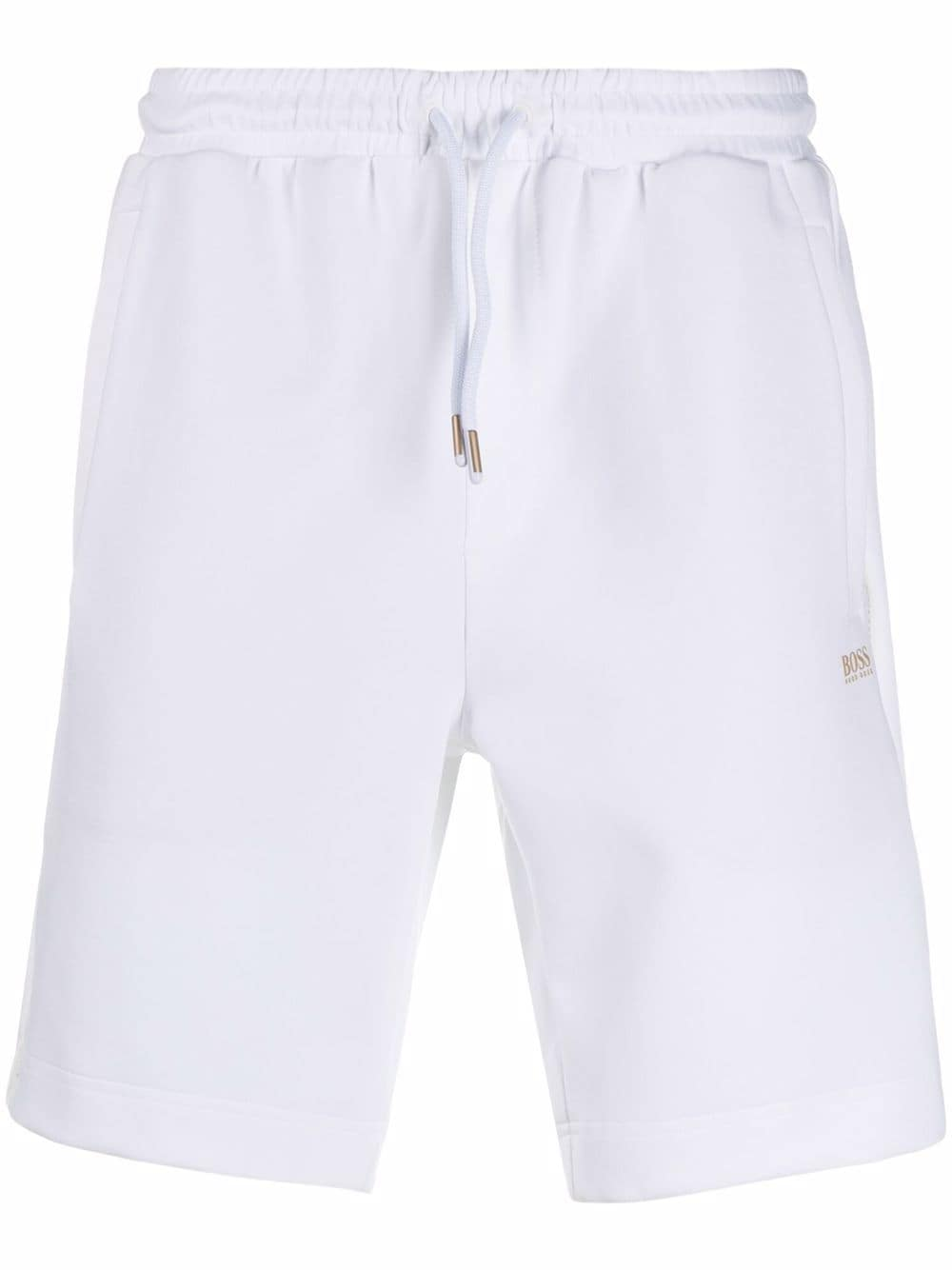 BOSS Gold Detailing Cotton Shorts White