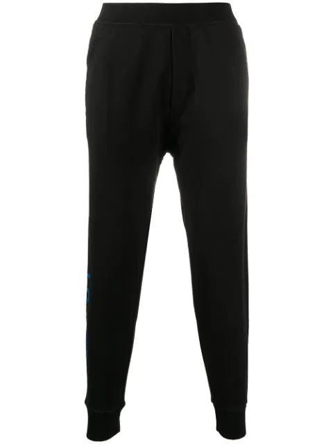 DSQUARED2 Icon Print Sweatpants Black/Blue - Maison De Fashion