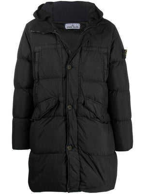 STONE ISLAND Padded Down Coat Black