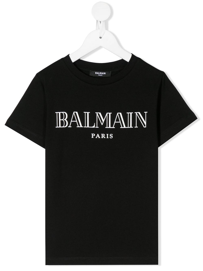 BALMAIN KIDS classic logo t-shirt black - Maison De Fashion