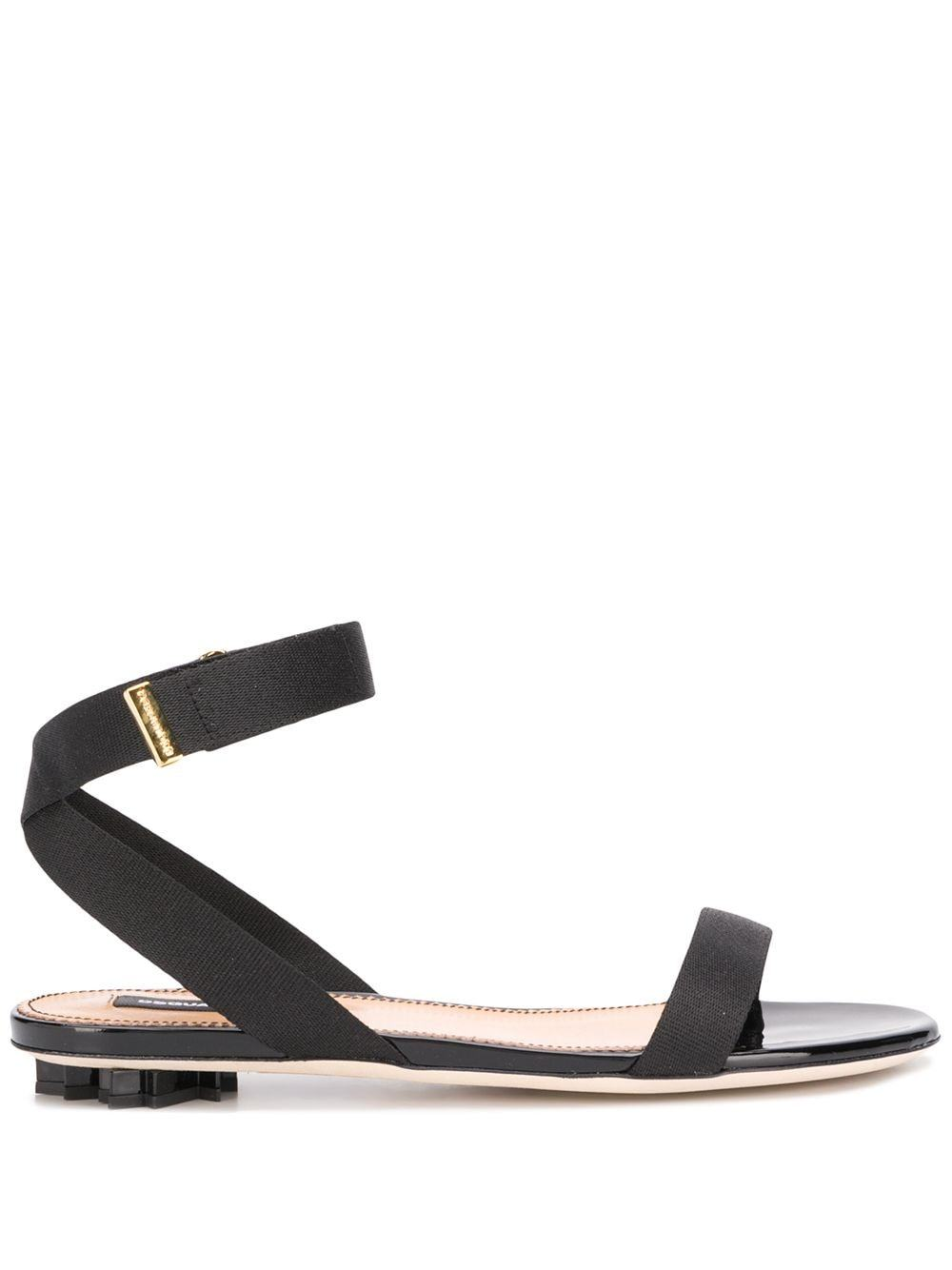 DSQUARED2 women leaf low sandal black - Maison De Fashion