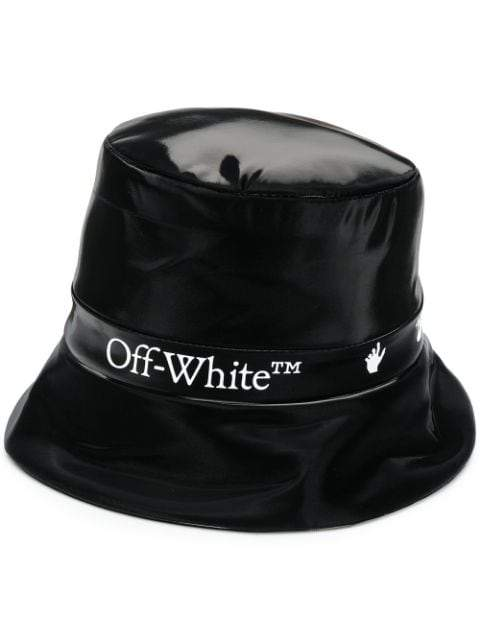 OFF-WHITE Logo Rain Hat Black