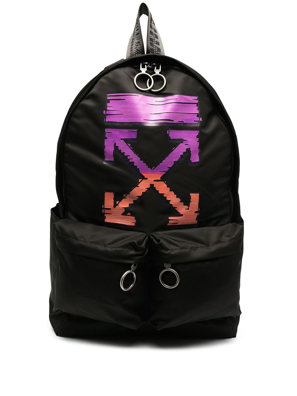 OFF-WHITE Logo Backpack Black/Fuchsia