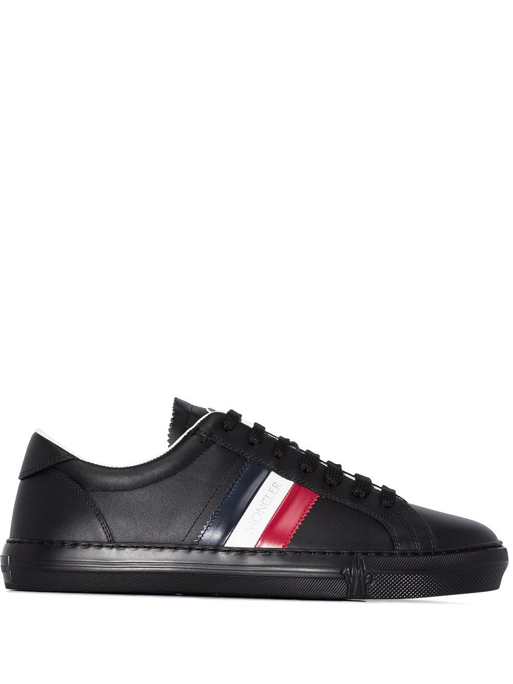 MONCLER New Monaco Stripe-Detail Sneakers Black