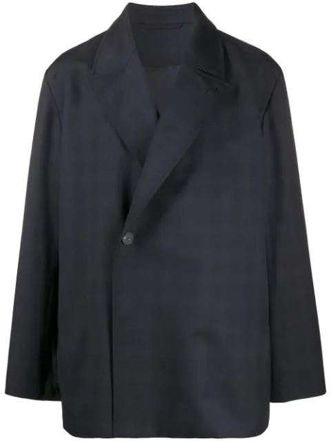 BALENCIAGA checkered jacket navy - Maison De Fashion