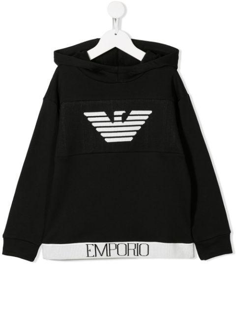 Emporio Armani Kids Logo Knitted Sweatshirt - Maison De Fashion