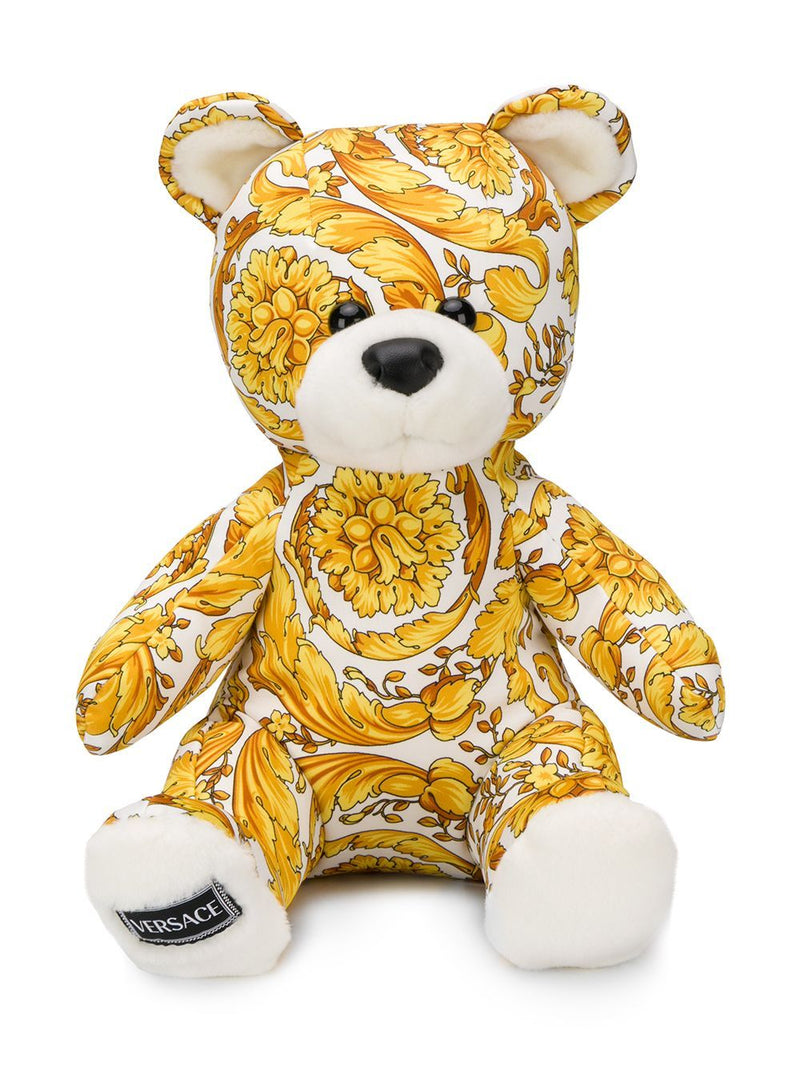 VERSACE KIDS Baroque Print Teddy Bear