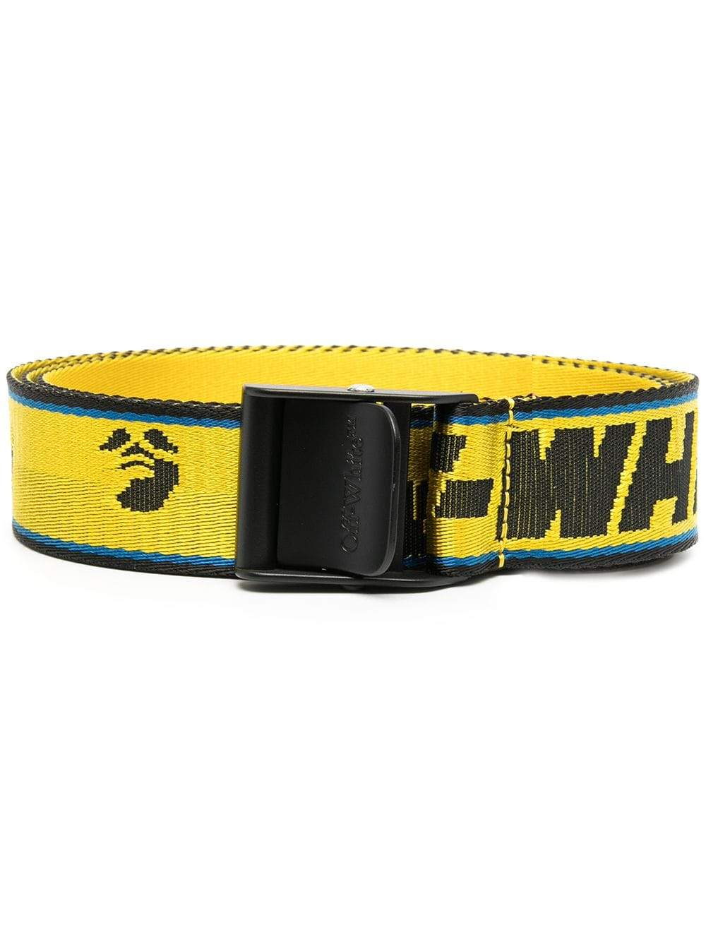 Off-White Women's Industrial Belt Yellow/Blue - Maison De Fashion
