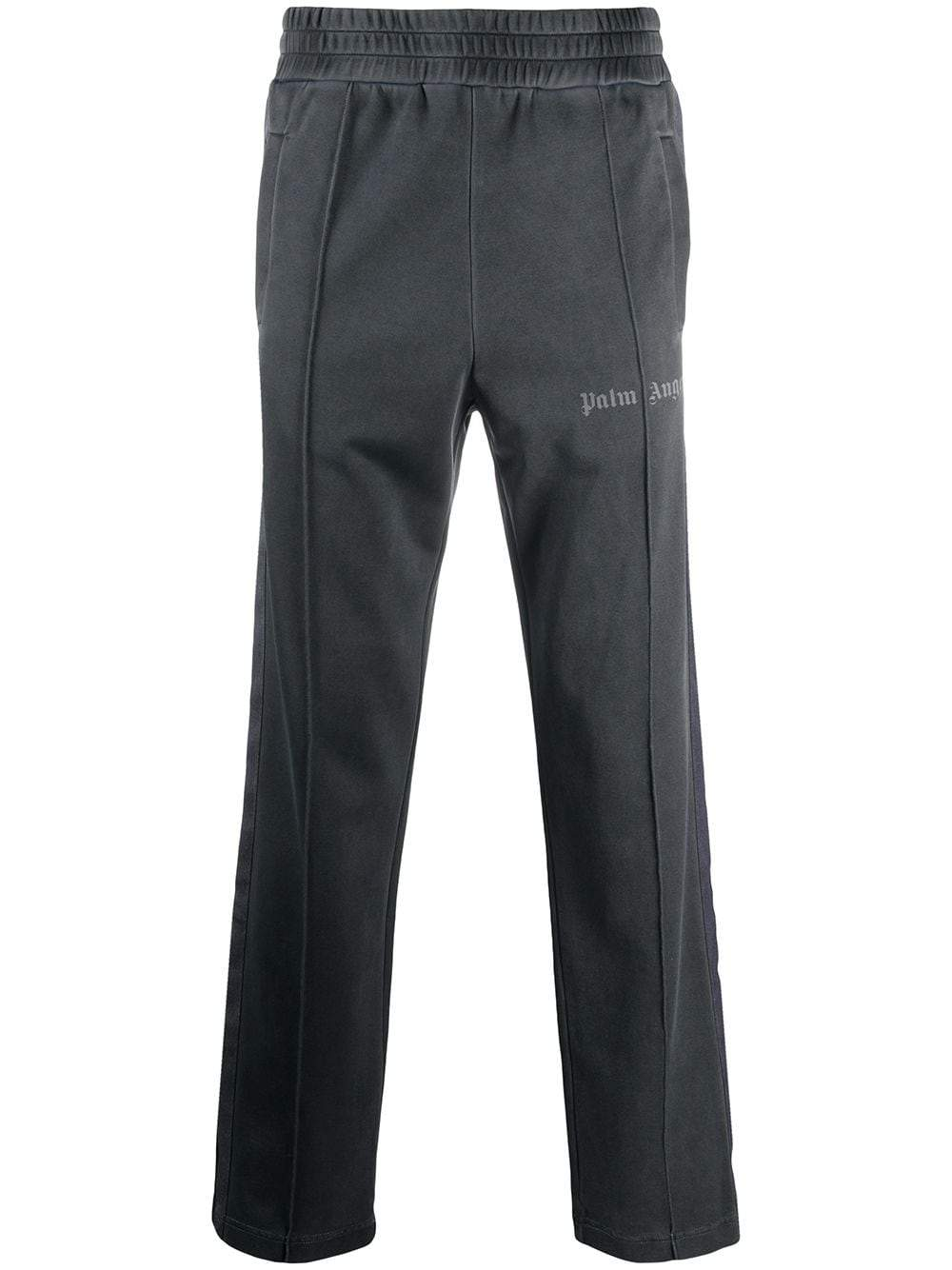 PALM ANGELS Garment Dyed Track Pants Black