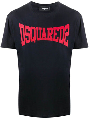 DSQUARED2 logo t-shirt black/red