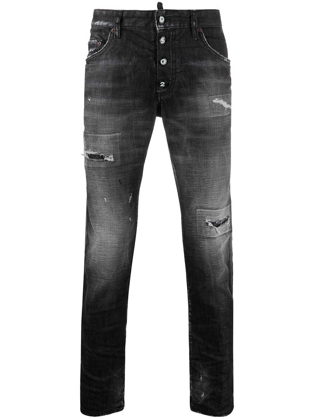 DSQUARED2 Skater Distressed Jeans Black - Maison De Fashion
