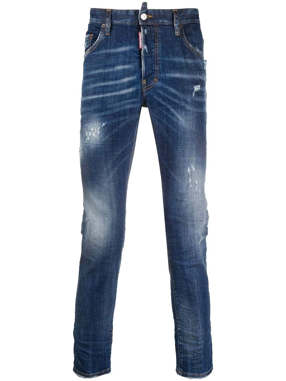 DSQUARED2 Slim Fit High Waist Jeans