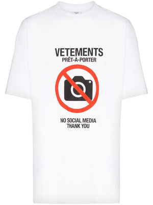 VETEMENTS antisocial t-shirt white