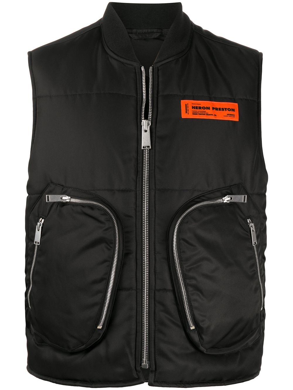 HERON PRESTON Multi Pocket Padded Gilet Black - Maison De Fashion