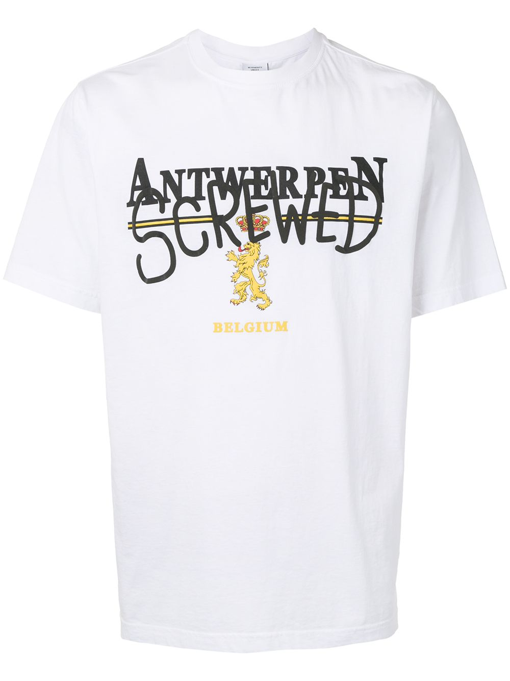 Vetements Antwerpen print T-shirt white